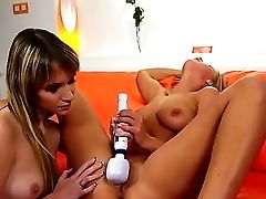 Sensational All Girl Stunners Have A Good Time As They Have Fun With Cunt And Use Electro-hitachi