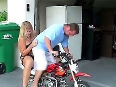 This Horny And Crazy Blonde Mummy Truly Likes To Rail Bikes, Amts And Dicks