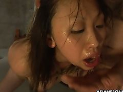 Exotic Asian Dude Fucks Face Of Tied Up And Suspended Hooker Kana Sato