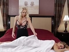 Two Infatuating Blonde Stunners Love Munching And Fucking Each Others Vulvas