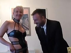 Matures Brit Whore Rectally Drilled Hard Before Gulping