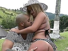 Kid Jamaica Grabs Lascivious Culo Of Diana Cadilac And Licks Her Perky Boobies With Passion