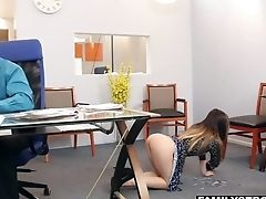 Naked Bootied Assistant Doll Offers Herself Rear End Style Right In The Office