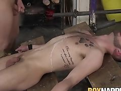 Koby Lewis & Tyler Underwood In Nasty Domination & Submission Have Fun With Paraffin Wax