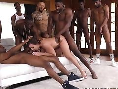 Natasha Nice Interracial Gang-bang Hook-up