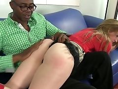 Hot Tempered Big Black Cock Loves Spanking And Fucking Milky Caboose Of Mattie Borders