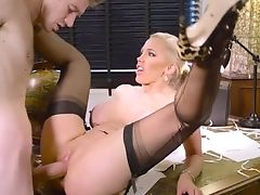 Wonderful Scenes Of Hard Orgy At Work With Buxomy Rebecca Moore