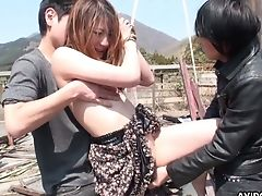Kawaii Japanese Gal Kei Kitagawa Flashes Tits And Gets Masturbated Outdoors