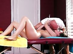 Johnny Sins Is Going To Bang The Fuck Out Of Lily Carter And Her Lil' Little Asshole Right On The Rubdown Table In His Work Place While Shes Atte