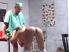 Big Bra-stuffers Pimp Sucking Ancient Dick Of Old Vet
