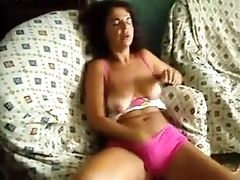Portugal Wifey Fumbling Her Coochie On Loveseat