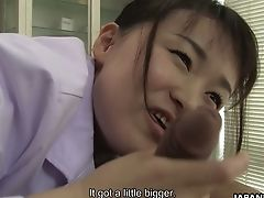 Revved On Tho' Timid Looking Japanese Nurse Sayaka Aishiro Gives Nice Bj