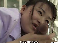 Revved On Tho' Timid Looking Japanese Nurse Sayaka Aishiro Gives Nice Bj