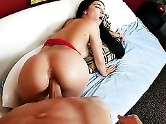 Black-haired Plays With Dudes Bulky Cane