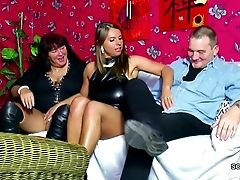 Old German Duo Entice Big Tit Teenager To Fuck In Threesome