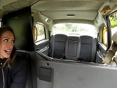 Femalefaketaxi Jumpy Farmer Can't Please Driver