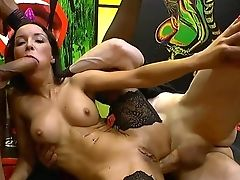 Severe Treatment During Group Sex Hook-up For Two Naked Bitches