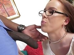 Big Black Cock Drills Crimson Haired Chick In Glasses Kierra Wilde And Makes Her Cornhole Opened Up