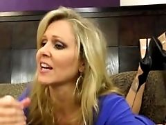 Big-boobed Cougar Julia Ann Jacks Him Off With Faux Poon!