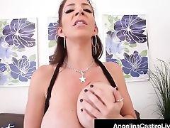 Curvy Lezbo Duo Angelina Castro & Sara Jay Strap On Fuck!