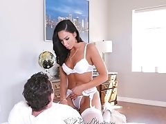 Tantalizing Mistress In Sexy Underwear Tiffany Brookes Is Lap Dancing Before Fuck-fest