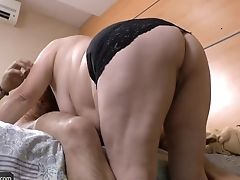 Older Brazilian Bbw Granny Got Fucked Hard And Got Spunk All Over Her Fat Breasts