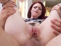 Crimson Haired Ginger Chick Lola Fae Gets A Throatful Of Jizm After Crazy Anal Intercourse