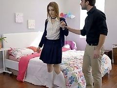 Promiscuous Nubile Kristen Scott Gets Her Caboose Spanked And Takes A Dick In Humid Puss