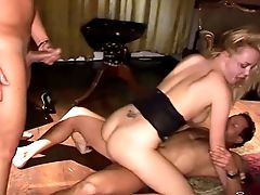 Spoiled Blonde Shows How The Pros Treat Dual Intrusion