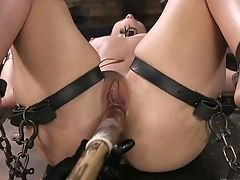 Tied Up Adult Actress Cheyenne Jewel Gets Her Honeypot Penalized