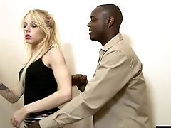 Blonde Clean-shaven Honeypot Pinned Xxx From Different Angles In Interracial Pornography