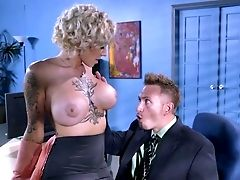 Massive Tits Office Super-bitch Fucked Until Exhaustion