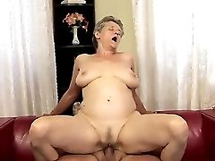 Horny Hairy Granny Aliz Gets Her Muff Munched And Pounded Hard Returning The Favor With A Steamy Bj