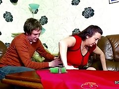 German Stepmom Entice To Fuck By Stepson As Dad Is Away