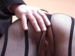 Deepthroated Brit Mega-slut Masturbating