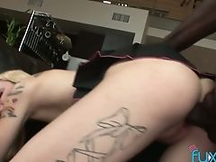 Big Black Cock Fucks Fuck-fest-appeal Trampy Chick And Makes Her Slit Spread
