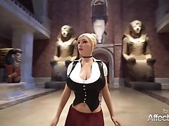 3 Dimensional Animation Lezzies Having Futa Fuckfest In A Musemum In Hd