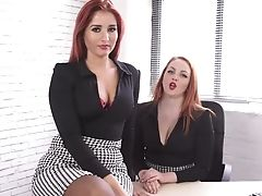 Check Out Bra-less Office Whore Kara Carter And Her Beautiful Colleague