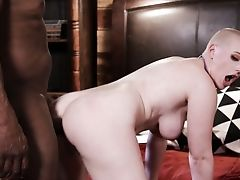Bald Headed Canadian Hooker Riley Nixon Gets Her Twat Blacked