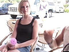 Two Lusty Blonde Playgirls Love Sharing A Pulsing Penis
