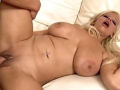 Big Boobed Blondie Mummy Gets Her Hot Kitty Boinked In Missionary And Rear End Styles Rough